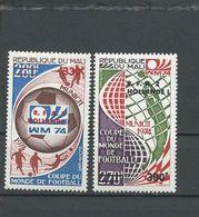 MALI  Scott 219-220 Yvert 221-222 (12) ** Cote 5,25$ 1974 Surcharges - Mali (1959-...)