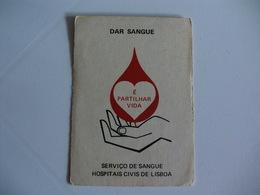 Blood Donors Donneurs De Sang Dadores De Sangue Portugal  Portuguese Pocket Calendar 1983 - Small : 1981-90