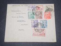 ESPAGNE - Enveloppe En Recommandé De Mallorca Pour La France En 1950 , Affranchissement Plaisant - L 12537 - 1931-50 Covers