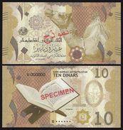 Antnapolistan Bank 10 Dinars 2017 UNC SPECIMEN - Afghanistan