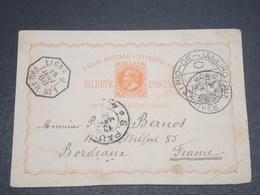 BRÉSIL - Entier Postal De Rio De Janeiro Pour La France En 1888 , Cachets Plaisant - L 12539 - Entiers Postaux