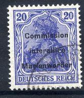 MARIENWERDER 1920 (8.May)  Overprint On Germany  20 Pf., Used,   Michel 16 - Settori Di Coordinazione