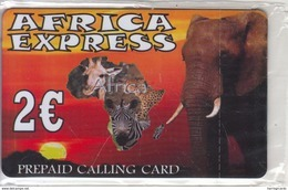 GREECE - Elephant, Africa Express, Prepaid Card 2 Euro, Mint - Grèce