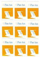 AVION - AVIATION - 18 CARTES JEU DE SOCIÉTÉ PAN AM PLAN DE VOL - TOUTES SCANNÉES RECTO VERSO - Playing Cards