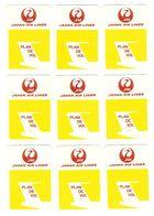 AVION - AVIATION - 18 CARTES JEU DE SOCIÉTÉ JAPAN AIR LINES PLAN DE VOL - TOUTES SCANNÉES RECTO VERSO - Jeux De Cartes