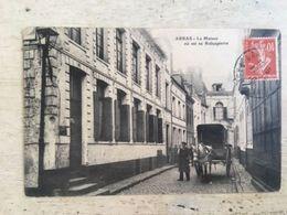 62 - CPA Animée ARRAS - La Maison Où Est Né Robespierre (B., Arras - 74) - Arras