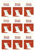 AVION - AVIATION - 18 CARTES JEU DE SOCIÉTÉ BRITISH AIRWAYS PLAN DE VOL - TOUTES SCANNÉES RECTO VERSO - Playing Cards