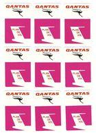 AVION - AVIATION - 18 CARTES JEU DE SOCIÉTÉ QUANTAS PLAN DE VOL - TOUTES SCANNÉES RECTO VERSO - Playing Cards