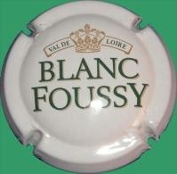 Plaque / Capsule De Muselet - Blanc-Foussy - Val De Loire [vert Et Or Sur Blanc] - Sparkling Wine