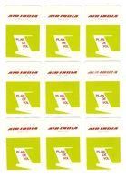 AVION - AVIATION - 18 CARTES JEU DE SOCIÉTÉ AIR INDIA PLAN DE VOL - TOUTES SCANNÉES RECTO VERSO - Playing Cards