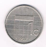 1 GULDEN  1987 NEDERLAND /95G/ - [ 3] 1815-… : Kingdom Of The Netherlands