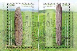 Armenia Arménie Armenien 2017 FDC Archeological Finds. Dragon-stones Sakhurak Geghama Mountains Sardarapat Museum MNH** - Armenia