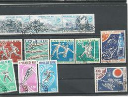 MALI  Scott C254-6, C282-3, C275-6, C271-3 Yvert PA252-4, PA276-9, PA271-2, PA267-9 (12) ** Cote 8,6$ 1975-6 - Mali (1959-...)