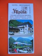 Alpina HOTEL-RESTAURANT.CH-6386 WOLFENSCHIESSEN - Dépliants Turistici