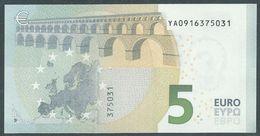 € 5 GREECE  Y001 C3  DRAGHI  UNC - 5 Euro
