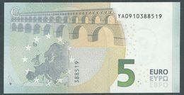 € 5 GREECE  Y001 C2  DRAGHI  UNC - 5 Euro