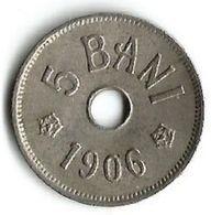 Pièce De Monnaie 5 Bani 1906 J - Roumanie