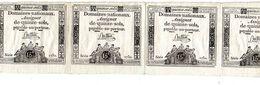4 ASSIGNATS ASSIGNAT DOMAINES NATIONAUX DE QUINZE SOLS SERIE 1732 - Assegnati