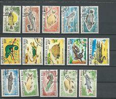 MALI  Scott 234-238, 250-254, 256-260 Yvert 236-240, 252-256, 258-262 (15) O Cote 5,4$ 1975-6 - Mali (1959-...)