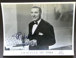 Cinema - Fotografia Con Autografo Originale Di Alberto Rabagliati - 1942 - Autografi