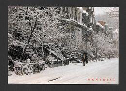MONTRÉAL - QUÉBEC - LES ESCALIERS DE MONTRÉAL SCÈNE D' HIVER RUE DROLET - 6½ X 4½ Po. 17x11.05 Cm - PHOTO Y. MARCOUX - Montreal