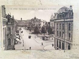 62 - CPA Animée ARRAS - Rue Gambetta Vers La Gare - Arras