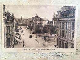 62 - CPA Animée ARRAS - Rue Gambetta Vers La Gare (CAP-92) - Arras