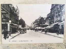 62 - CPA Animée ARRAS - La Rue Gambetta  (LL-56) - Arras