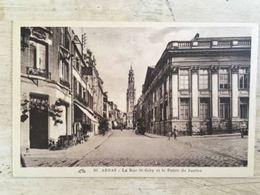 62 - CPA Animée ARRAS - La Rue St-Géry Et La Palais De Justice (CAP -93) - Arras