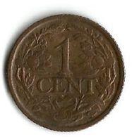 Pièce De Monnaie  1 Cent 1937 - [ 3] 1815-… : Kingdom Of The Netherlands