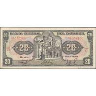 TWN - ECUADOR 121Aa4 - 20 Sucres 29.4.1986 LO 06332166 FINE - Cambogia