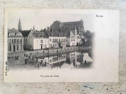 62 - CPA Animée ARRAS - Vue Prise Du Rivage (B.F, Paris) - Arras
