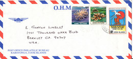 Cook Islands Air Mail Cover Sent To USA Topic Stamps - Cookinseln