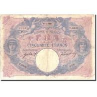 France, 50 Francs, 500 F 1888-1940 ''Bleu Et Rose'', 1915, 1915-12-30, KM:64e - 1871-1952 Anciens Francs Circulés Au XXème