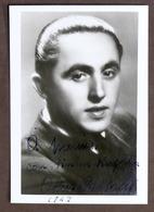 Musica - Fotografia Con Autografo Originale Del Cantante Oscar Carboni - 1942 - Autografi