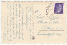 Bayerisch Gmain Special Postmark On Bad Reichenhall, Alpengaststätte Schroffen Postcard Travelled 1942 B180103 - Alemania