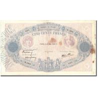 France, 500 Francs, 500 F 1888-1940 ''Bleu Et Rose'', 1939, 1939-05-25, KM:88c - 1871-1952 Anciens Francs Circulés Au XXème