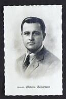 Musica Lirica - Fotocartolina Con Autografo Del Tenore Antonio Salvarezza - 1944 - Autografi