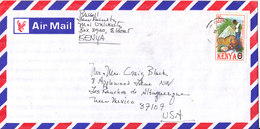 Kenya Air Mail Cover Sent To USA Single Franked RED CROSS Stamp - Kenia (1963-...)