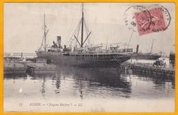 1908 - CP D' Alger Vers Paris, France - Paquebot - Ligne Marseille Alger - Vue Eugène Peirère - Postmark Collection (Covers)