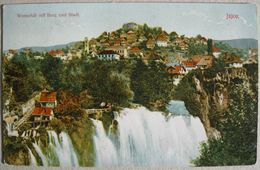 BOSNA I HERCEGOVINA - JAJCE, WASSERFALL MIT BURG UND STADT - Bosnia And Herzegovina