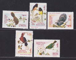 BHOUTAN AERIENS N°   38 à 42 ** MNH Neufs Sans Charnière, TB (D4599) Oiseaux - Bhutan