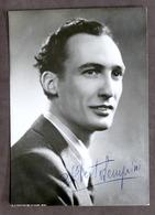 Musica - Fotocartolina Con Autografo Di Alberto Semprini - 1945 Ca. - Autografi