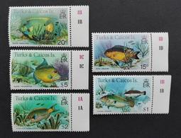 Turks Caicos 1983** Mi.413, 414, 417-19 III Fishes MNH [21;114] - Poissons