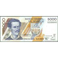 TWN - ECUADOR 128c4 - 5000 5.000 Sucres 12.7.1999 Serie AO UNC - Cambogia