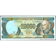 TWN - ECUADOR 129f - 20000 20.000 Sucres 12.7.1999 Serie AK UNC - Cambogia