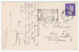 Wiesbaden Slogan Postmark On Wiesbaden Postcard Travelled 1943 B180103 - Alemania