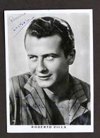 Cinema - Fotografia Con Autografo Dell'attore Roberto Villa - 1942 - Autografi