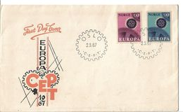 Norway Norway 1967 FDC Europa CEPT 1967 - Brieven En Documenten