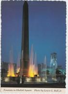 Fountain, Obelisk Square, Indianapolis, Indiana, Unused Postcard [20813] - Indianapolis
